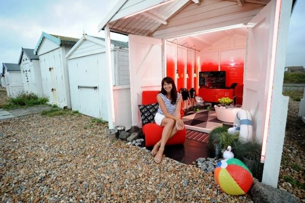 Shoreham Beach hut turned high-tech by Virgin Media