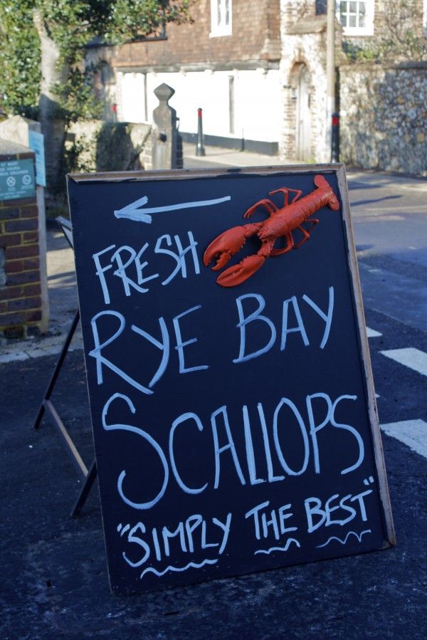Fresh Rye Bay Scallops - it's a sign!