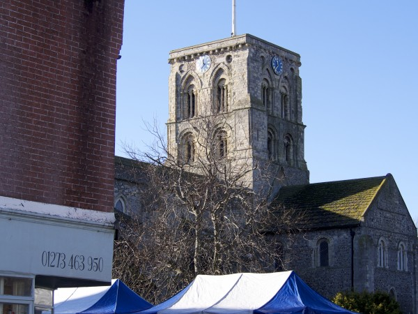 The church from Hector's Shed