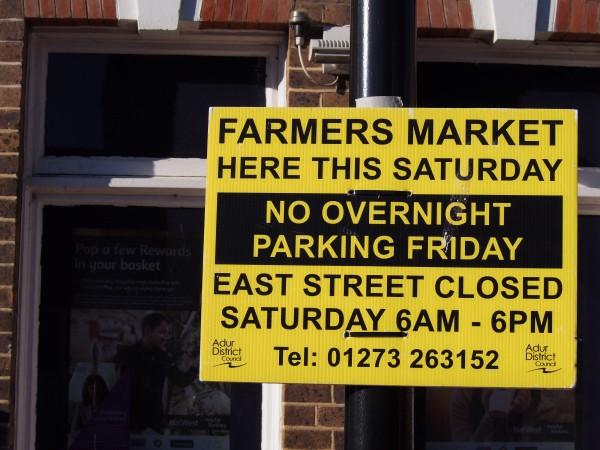 Farmers market sign