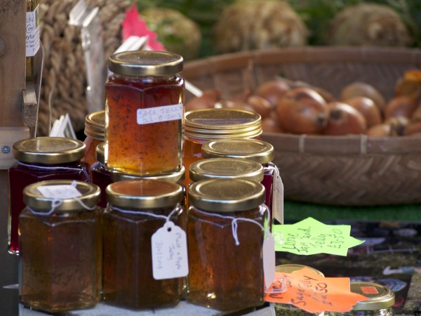 Jam jars - with sage jelly